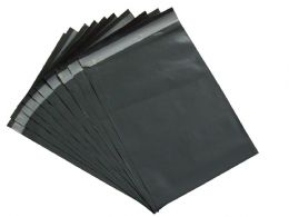 50 Grey Mailing Postal Bags STRONG 12 x 16 inch (305x405) Polybags UK Packaging